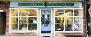 Storefront at Woodstown Massage Boutique is warm and welcoming; find out about us!